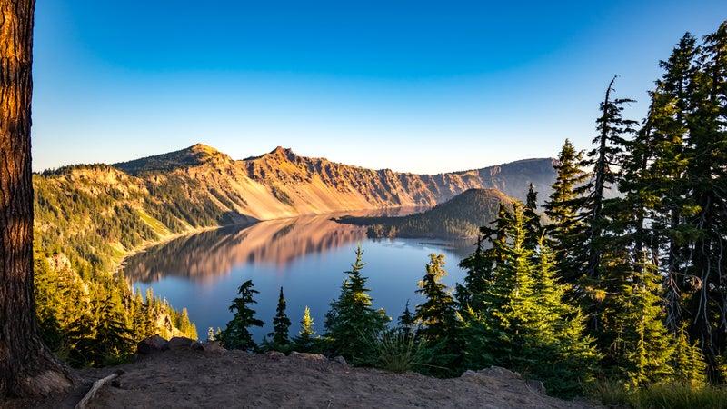 Crater Lake National Park at Sunrise