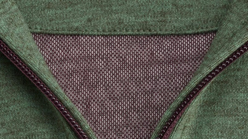 Here you can see the bare Polartech Alpha inside the sweater's back. And that's a quality YKK zipper.