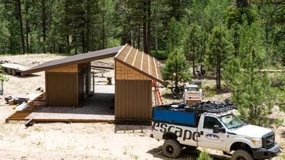 Part of the Aquarius Trail Hut System