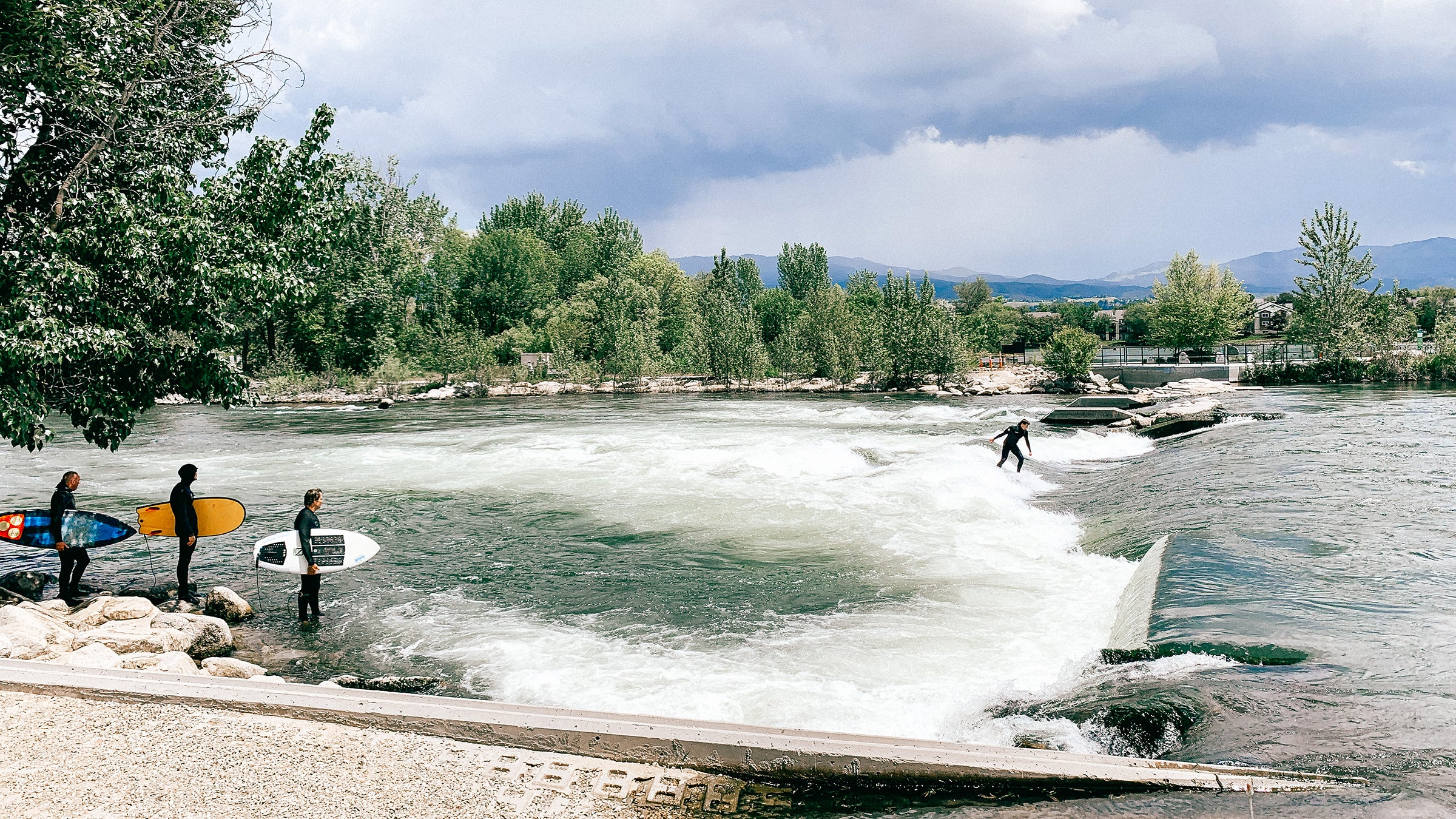 Surfing at Boise Whitewater Park