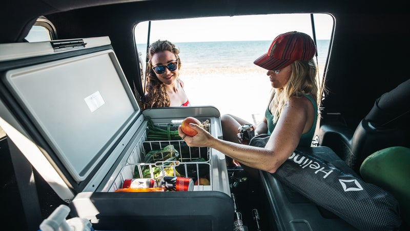 Compared to a cooler, a fridge-freezer like this Dometic CFX3 will give you more internal capacity and guaranteed temperature control, allowing you to enjoy high-quality, fresh food longer.