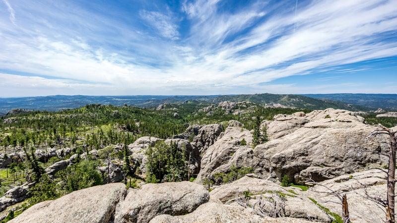 Mountain top view in South Dakota