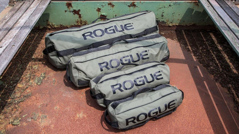Sandbags are available in a number of sizes and possible weights. My advice would be to err on the smaller and lighter side.