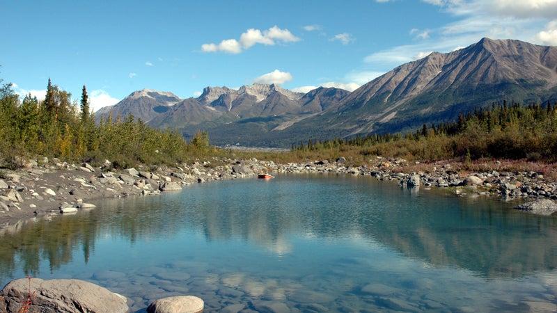 Kennicott River in Wrangell  St Elias National Park,McCarthy,Alaska.