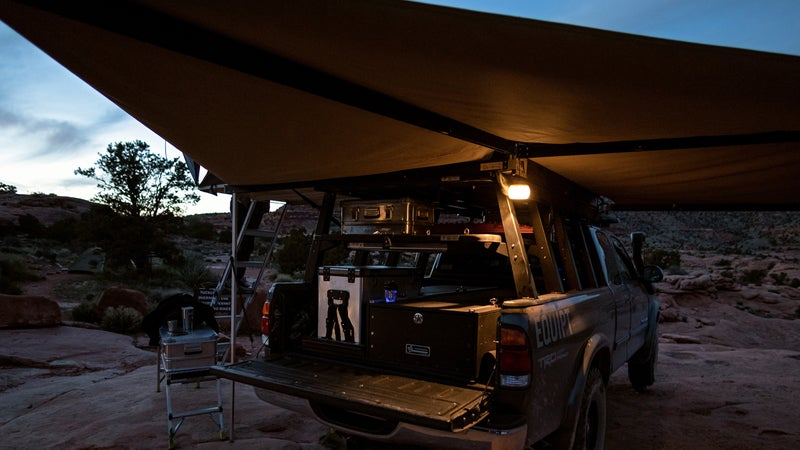 A good 270 like this Eezi-Awn transforms your truck into its own campsite.