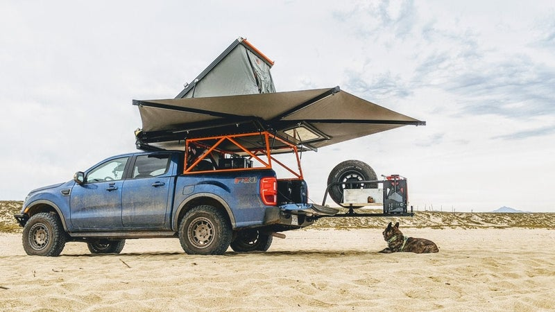 The Ranger on a beach in Baja. See what I'm talking about when I say the Eezi-Awn helps turn your truck into a mobile camping cabana?