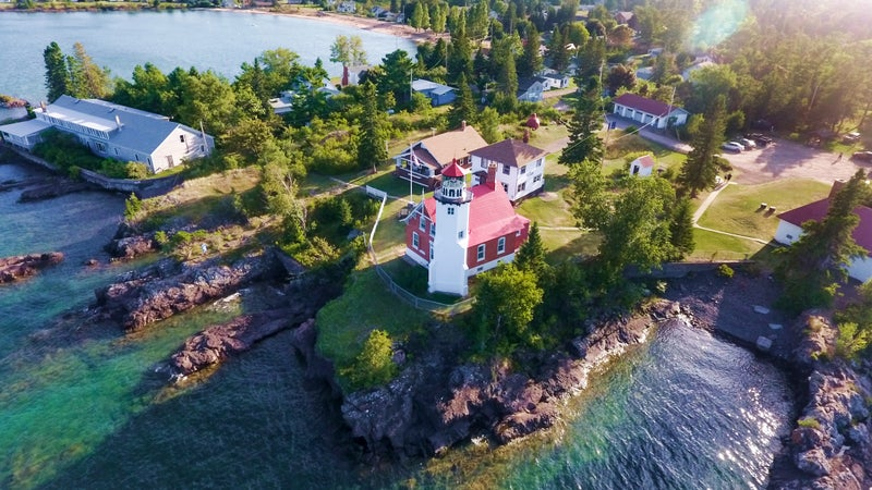 Eagle Harbor lighthouse in Michigan's Keweenaw peninsula