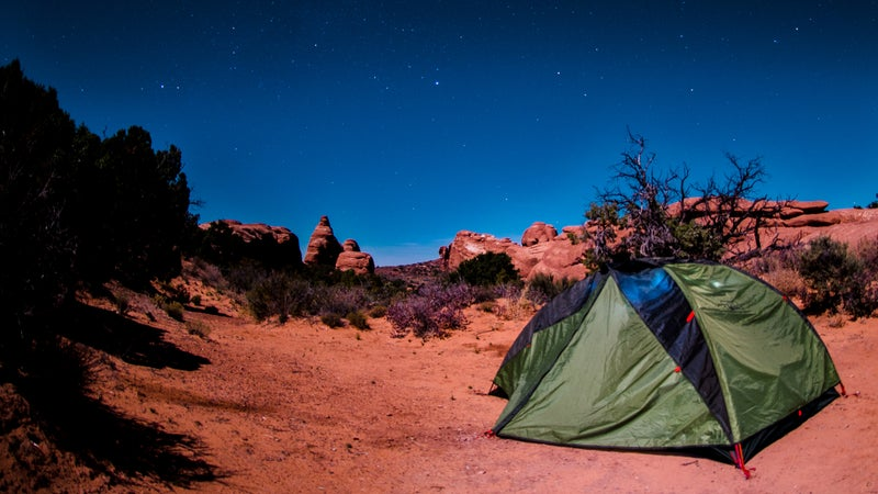 Camping Under Stars in Arches National Park