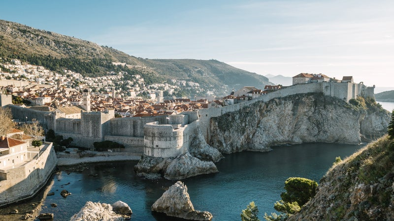Old Town Of Dubrovnik At Sunrise