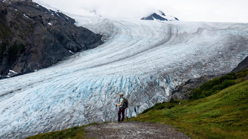 The author at the Exit Glacier