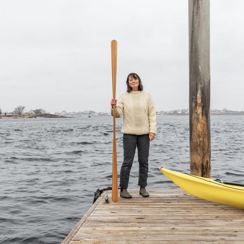 The author in Peaks Island, Maine