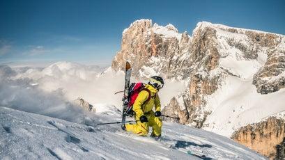 Telemark Skiing In Big Mountains
