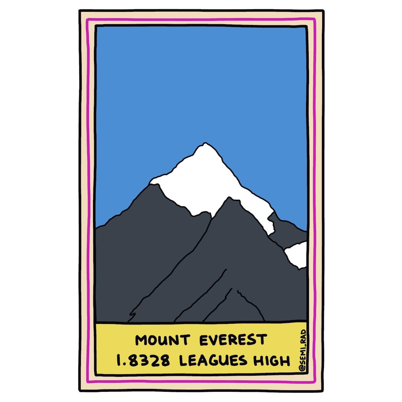 Mount Everest 1.8328 Leagues High