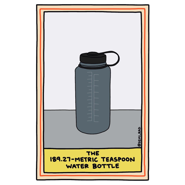 The 189.27-Metric Teaspoon Water Bottle