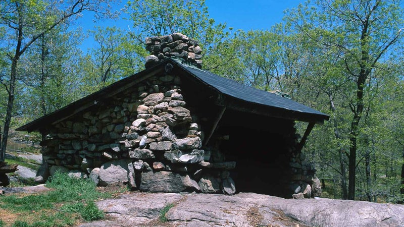 The Fingerboard Shelter in Harriman State Park, New York