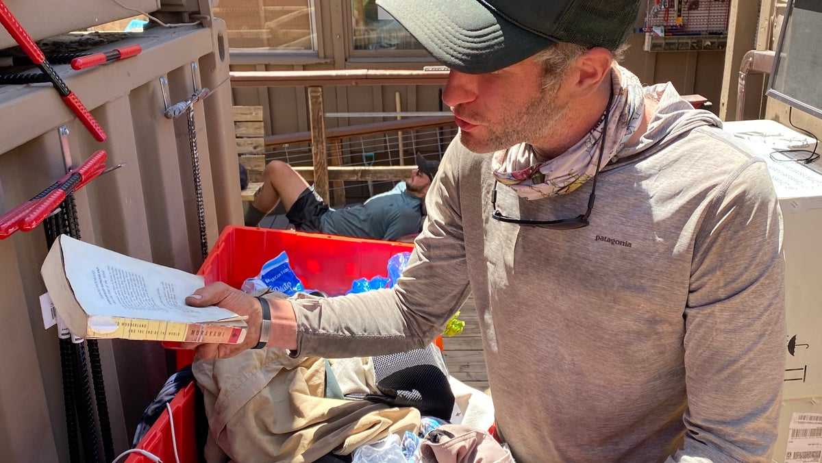 When hikers have leftover food or gear, they don't trash it. They drop it in a box for the next person who needs it, forming a beautiful network of