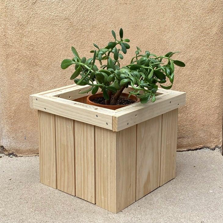 Finished planter box