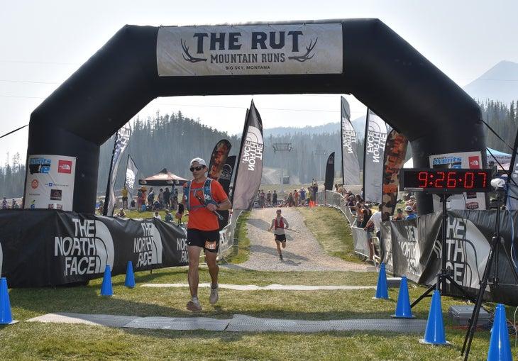 Rut 50k finish line