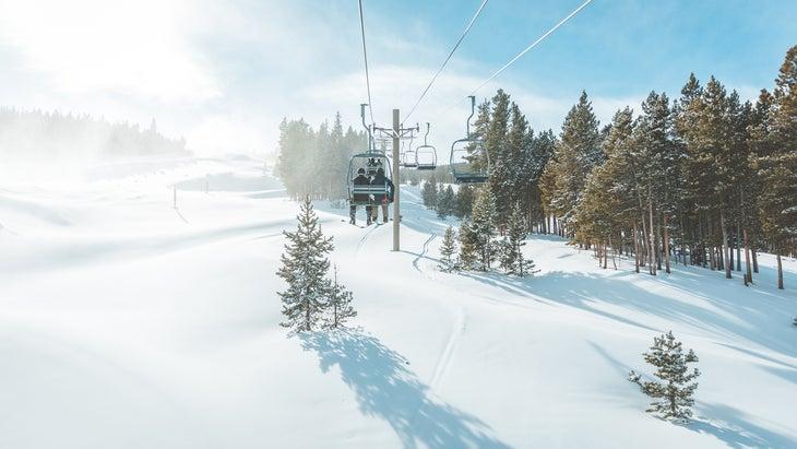 Scenic view of Breckenridge ski resort , Colorado