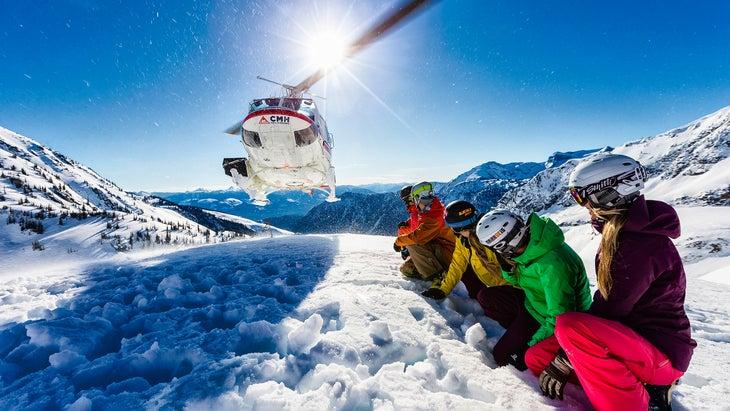 Canada heli-skiing
