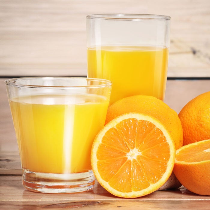 """If you're in the habit of pouring yourself a big glass of OJ with breakfast every morning (or any type of fruit juice, for that matter), you may want to rethink your routine. """"The only times I recommend fruit juice is when I have really underweight patients,"""" says Jill Pluhar, R.D., a nutritionist with Brigham and Women's Hospital in Boston.   """"By the time juice is juice, it's usually been so processed that the majority of vitamins and minerals—and fiber—have been removed."""" Stick with whole fruits instead, she adds, which have built-in portion control: about 60 to 100 calories per fruit. With juice, on the other hand, it's easy to pour yourself 200 to 300 calories in one sitting."""