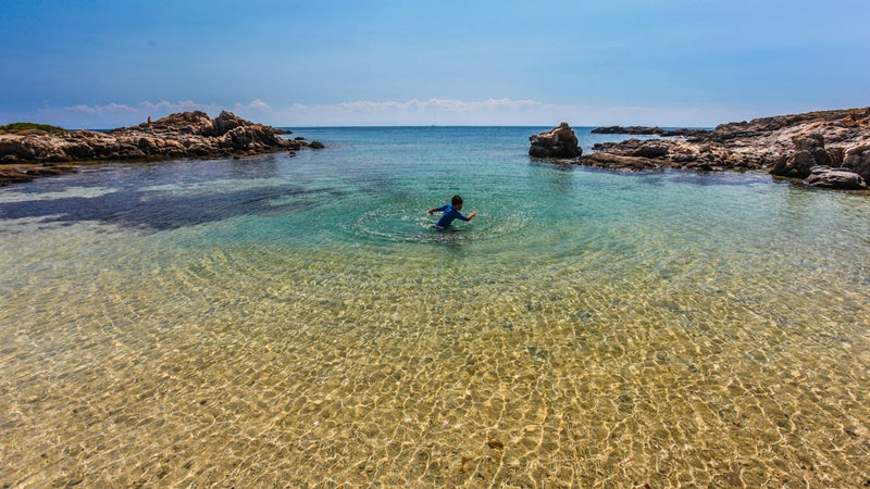 Crystal clear waters in Sardinia.