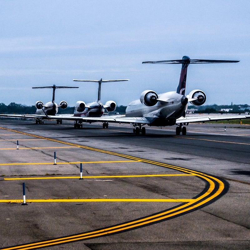 JFK Kennedy New New York York airplane airport line tarmac waiting