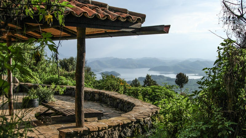 The lake view at Uganda's Virunga.