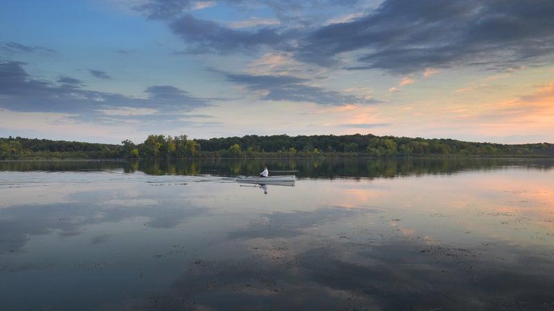 Rowing Lake Wingra.