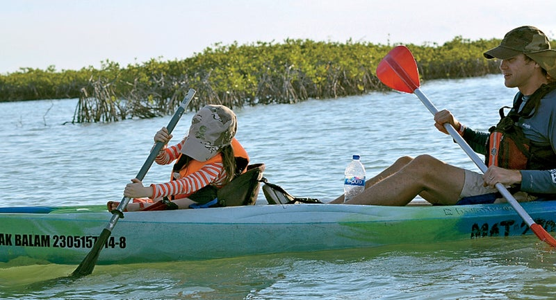 Kayaking with Yucatan Outdoors.