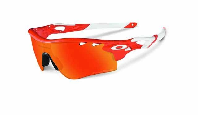 eyewear radarlock blood orange fire iridium