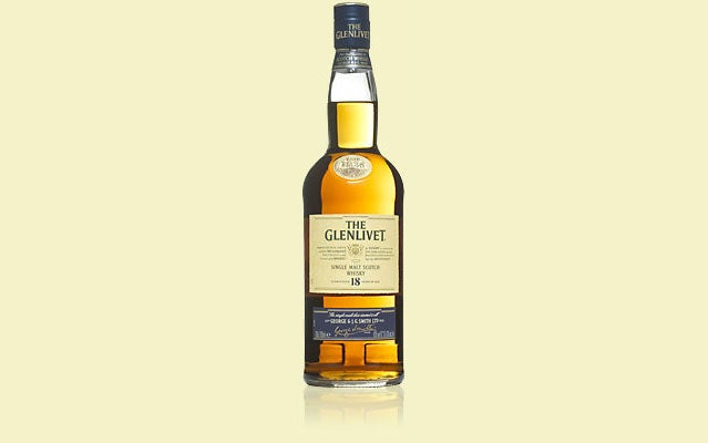 Glenlivet scotch 18-year alcohol
