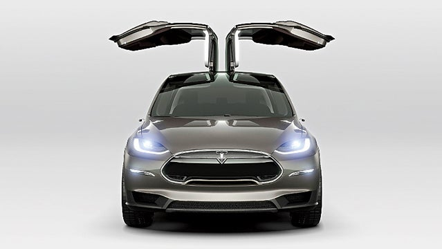 Tesla Model X Electric Car outside holiday gift guide