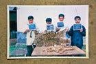 Jailed Kaziranga poachers and their quarry.