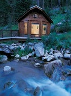 Sweet seclusion: a creekside cabin.