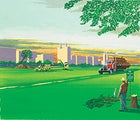 Artist's rendering of the soon-to-be-completed logging road through Central Park