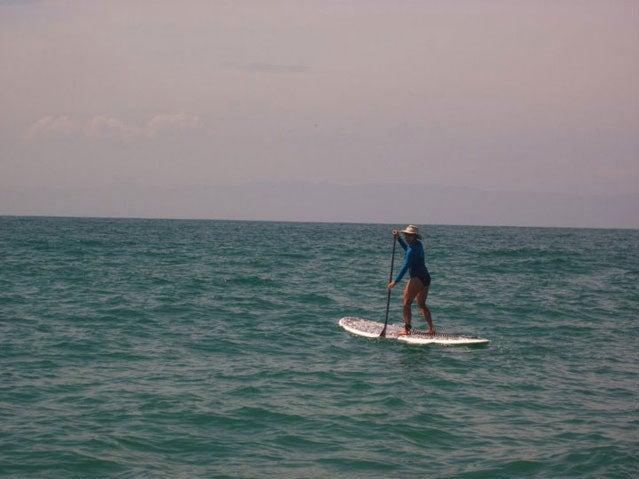 Paddling in Punta Mita bay, near Islas Marietas, Mexico