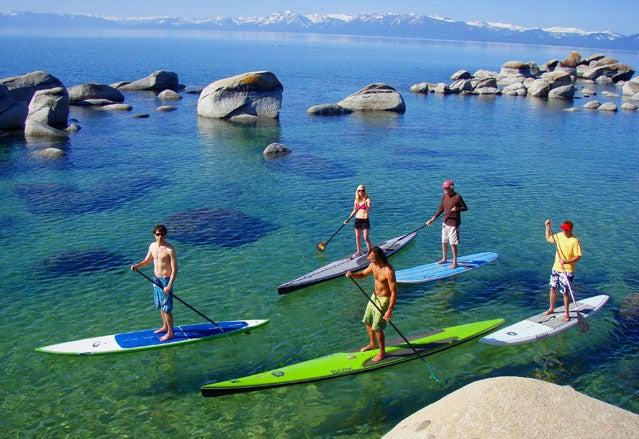 SUP-ing Lake Tahoe's hot springs