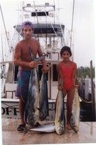 Josh and Katya 20 years ago with mahi mahi