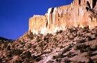Rock-ride recipe: sun bathed cliffs and scrub at New Mexico's Pajarito Plato