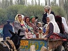 Uighur people in the ancient market town of Kashgar, China