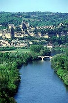 Multi-sport kingdom: a river-top view of Beynac Castle in Dordogne, France