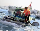 The Ice Challenger team on a practice run off Wales, Alaska