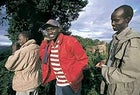 Rim shot: Mike , and Lulunken gaze intoTanzania's Ngorongoro crater