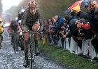Lance's corporal: George Hincapie slogs it out in the Paris-Roubaix Race.
