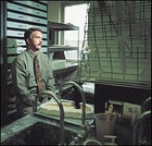 Heir apparent Jeffrey Meldrum in his lab at Idaho State.