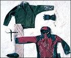 The Arc'teryx Gothic Cardigan, Napapijri Ferreira corduoy pants, Bohlin belt buckel, Stone Canyon belt, Marmot's White Heat gloves, and Cloudveil's Koven Jacket