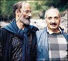 """Come and see us!"" Ecotourism pioneers Paata Shanshiashvili (left) Vazha Pavliashvili inside Georgia's Lagodekhi Nature Reserve"