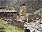 A stone church in the Tusheti region.