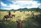 Riding on the east side of the ranch
